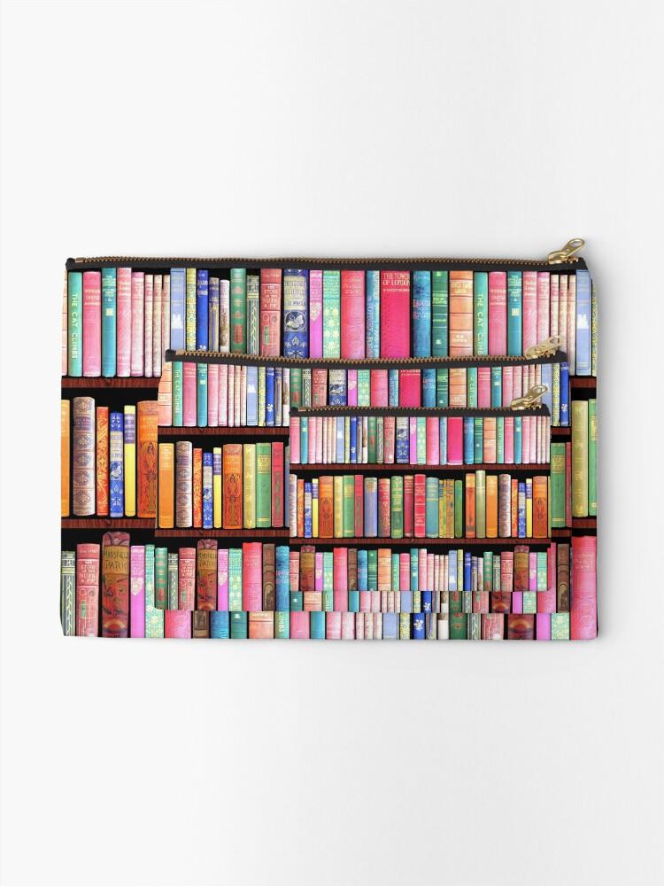 Alternate view of Bookworm Antique books Zipper Pouch