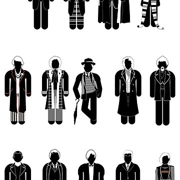 All 14 Doctor Whos (including the War Doctor) by mime666