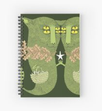 Mutant Catfish Twins Collecting Starfish Spiral Notebook