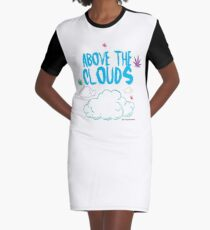 Above the Clouds Graphic T-Shirt Dress