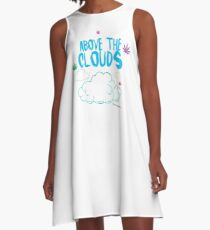 Above the Clouds A-Line Dress