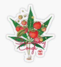 Strawberry Cough Transparent Sticker