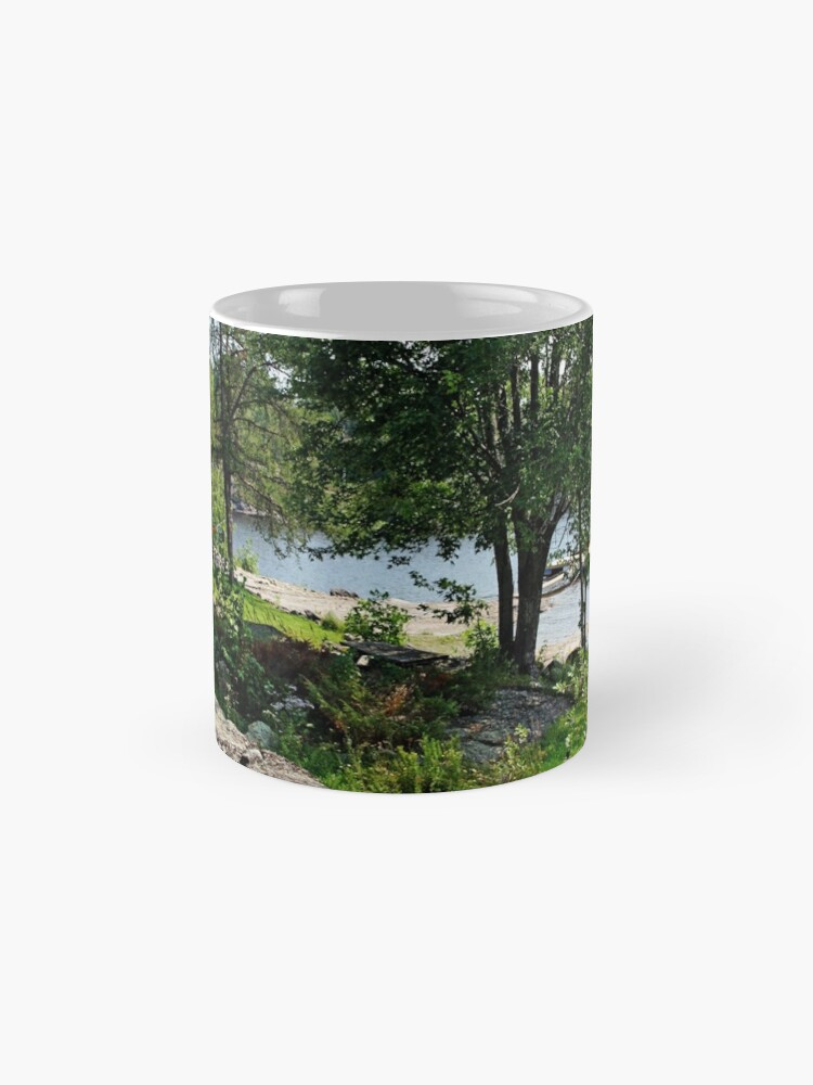 Alternate view of Solar Eclipse 2017 Glow On French River Mug