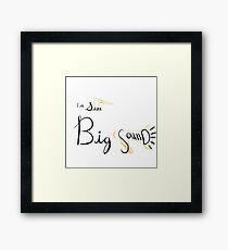 Little Size, Big Sound Framed Print