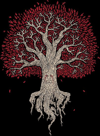 Weirwood Tree - game of thrones by SharkPants