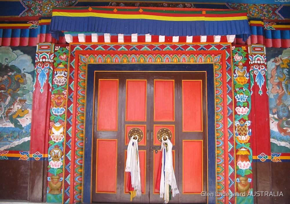 Bon Monastery Temple entrance by Glen Ladegaard AUSTRALIA