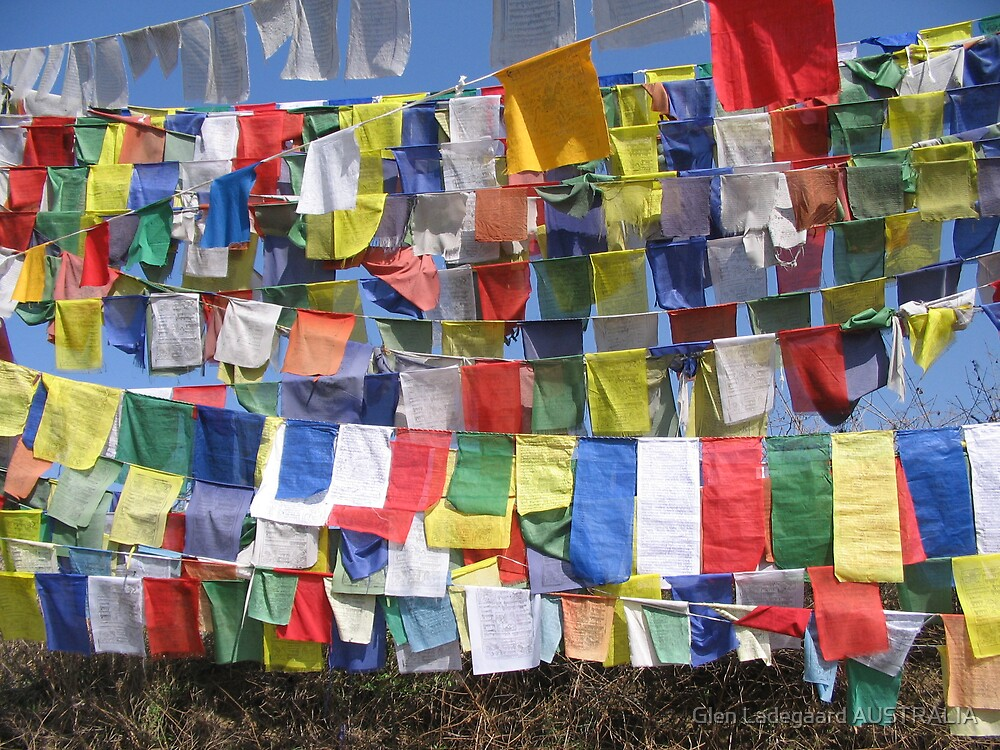 Prayer Flags - and lots of them! by Glen Ladegaard AUSTRALIA