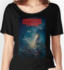 Stranger Things Autograph Poster Women's Relaxed Fit T-Shirt