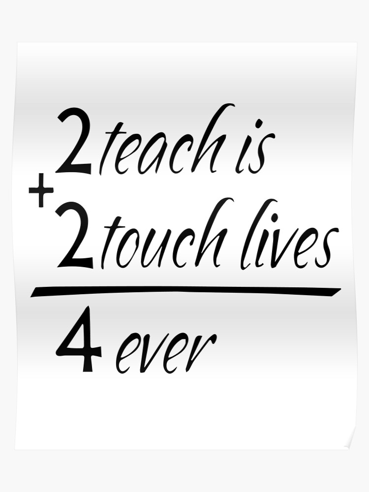 Funny Teacher Quote Motivational Teaching   Poster