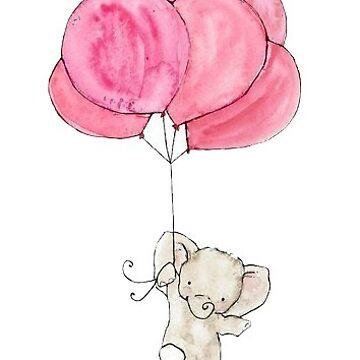 elefante en un globo de stickersnstuff