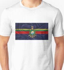 Royal Marines - RM Badge over Royal Marine Flag T-Shirt