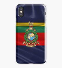 Royal Marines - RM Badge over Royal Marine Flag iPhone Case