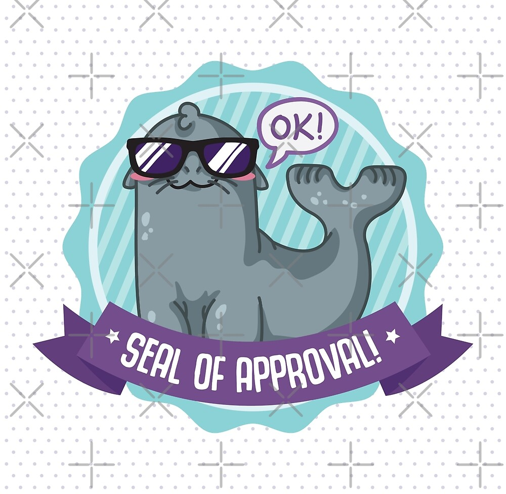 Seal of Approval - Gray Seal by bytesizetreas