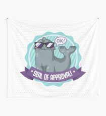 Seal of Approval - Gray Seal Wall Tapestry