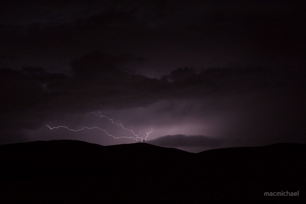 Lightning over the Sahara by macmichael