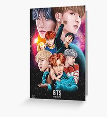 BTS DNA Fan Art Greeting Card