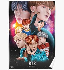 BTS DNA Fan Art Poster