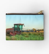 Windrowing Canola ..Red Hills..Dookie. Studio Pouch