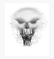 Pollution Skull Photographic Print
