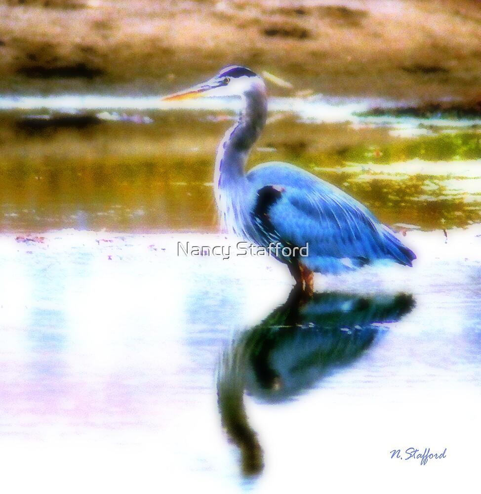 Blue Heron by Nancy Stafford