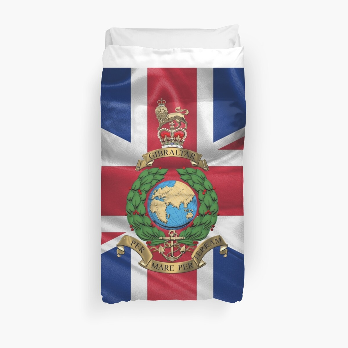 fdd2acec The Corps of Royal Marines - RM Emblem over Flag