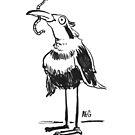 Inktober 2015 Day 20 - Bird and Worm by Aaron Gonzalez