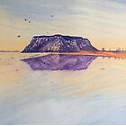 Nut at sunrise, Stanley , water colour by Ian Shiel by Ruckrova