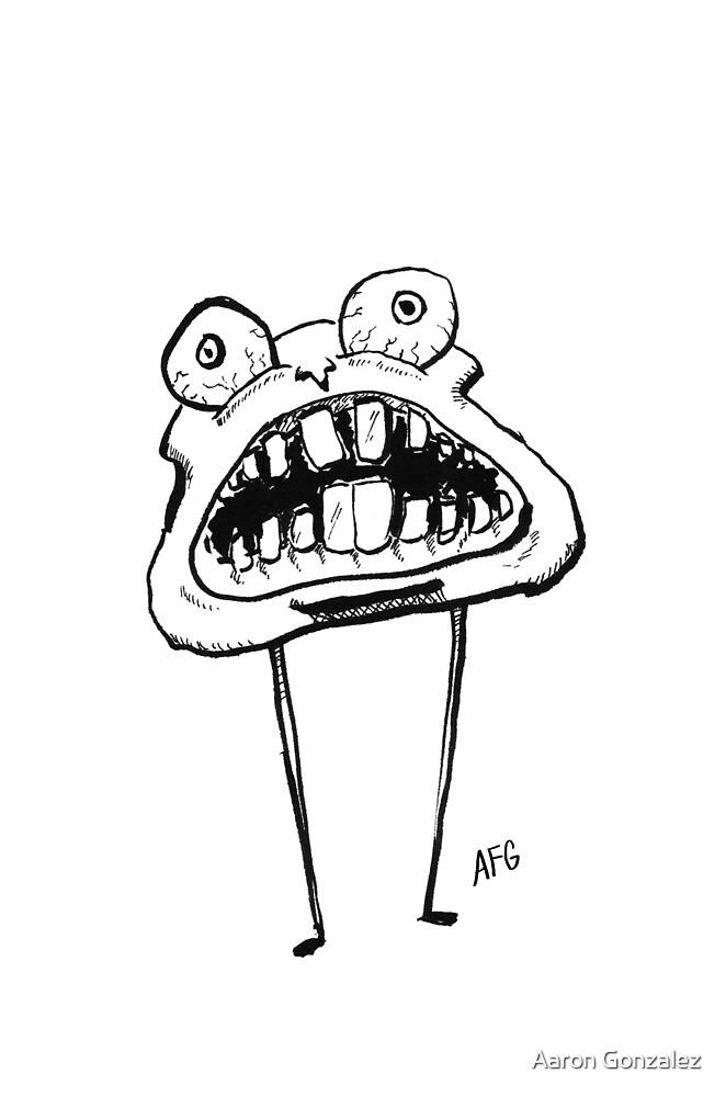 Inktober 2015 Day 28 - Scared Teeth by Aaron Gonzalez