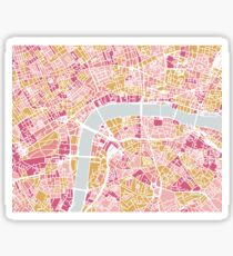 Colorful London map Sticker
