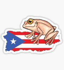 El Coqui de Puerto Rico Sticker