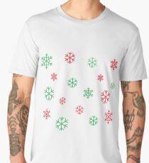 Red/Green Snowflakes Men's Premium T-Shirt