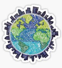 world mandala Sticker