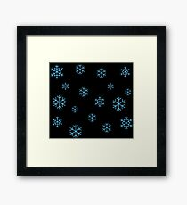 Blue Snowflakes Framed Print