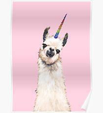 Unicorn Llama Poster