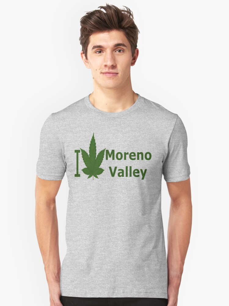 0261 I Love Moreno Valley Unisex T-Shirt Front