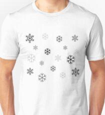Black/Grey Snowflakes T-Shirt