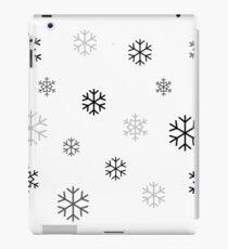 Black/Grey Snowflakes iPad Case/Skin