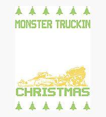 Monster Truckin Ugly Christmas Photographic Print