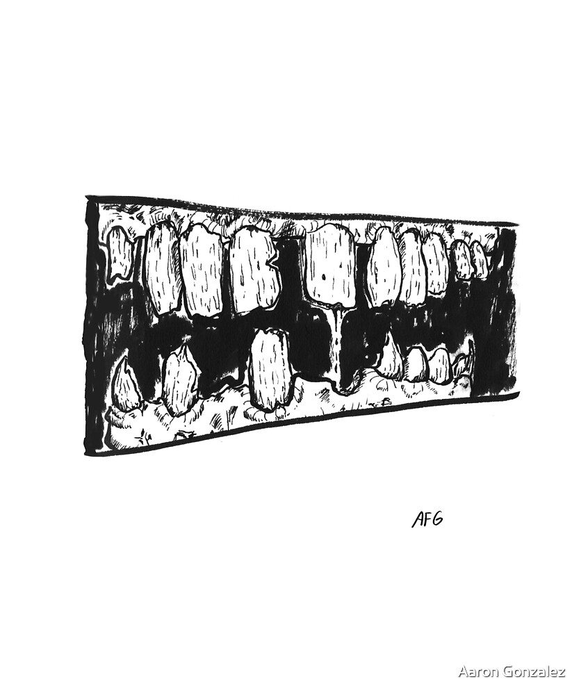 Inktober 2016 Day 07 - Rotten Teeth by Aaron Gonzalez