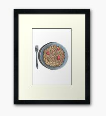 Pasta and tomatoes Framed Print