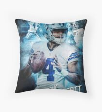 Dak Prescott Dallas Sports Art Throw Pillow