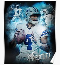 Dak Prescott Dallas Sports Art Poster