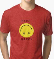 PARAMORE FAKE HAPPY Tri-blend T-Shirt