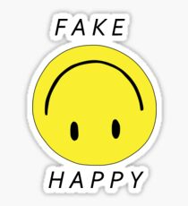 PARAMORE FAKE HAPPY Sticker