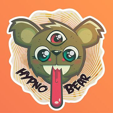 Psychedelic Hypno Bear by msharris22