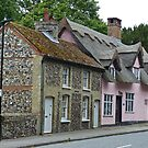 Houses in Lavenham, Suffolk by Margaret  Hyde