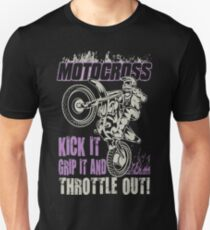 Dirt Bike Throttle Out Womens Slim Fit T-Shirt