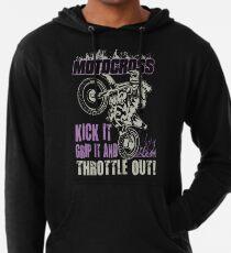 Dirt Bike Throttle Out Womens Lightweight Hoodie