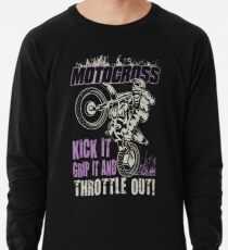 Dirt Bike Throttle Out Womens Lightweight Sweatshirt