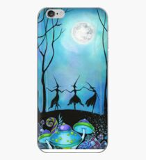 Witches Dancing Under the Moon iPhone Case